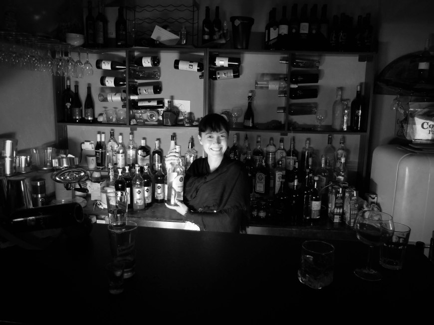 Closing up the bar at Red Red Wine Bar - Hvar.