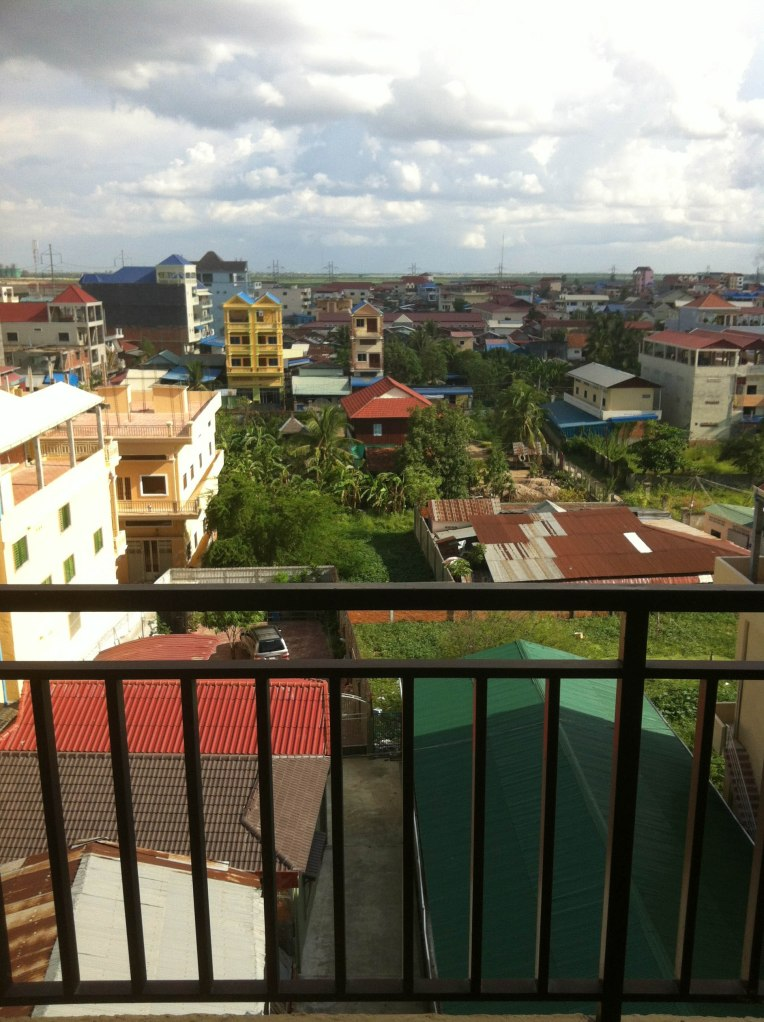 View overlooking Phnom Penh suburbs from work