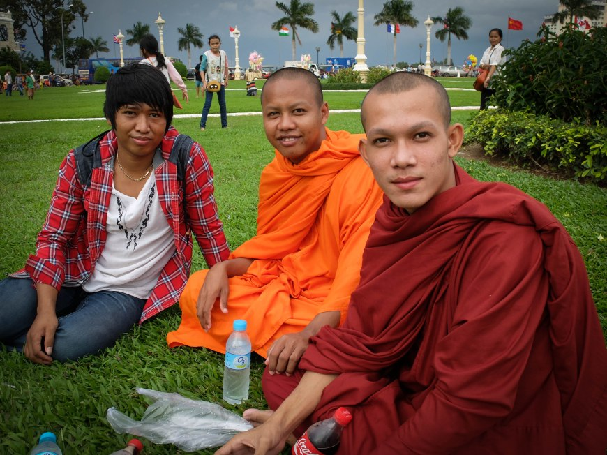 My Buddhist 'brothers' and their chaperone