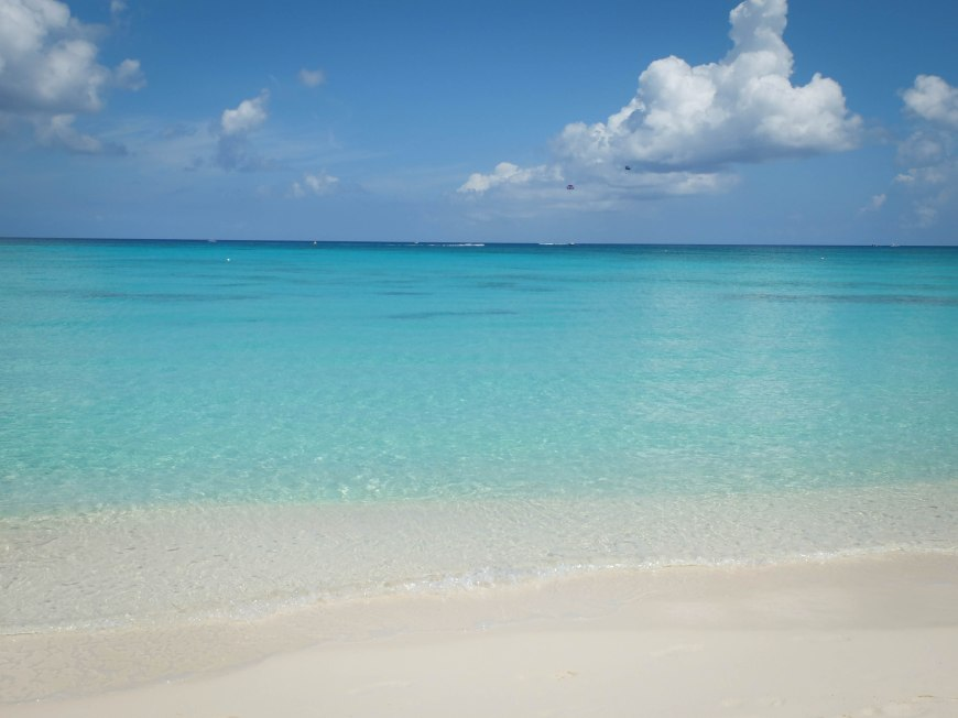 One of the wonderful beaches I visited on my trip - this one is in the Cayman Islands