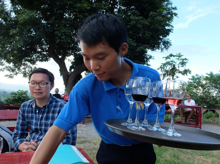 Winetasting in Myanmar
